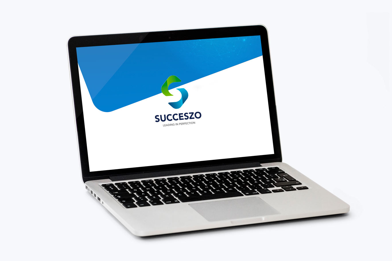 laptop met succeszo logo